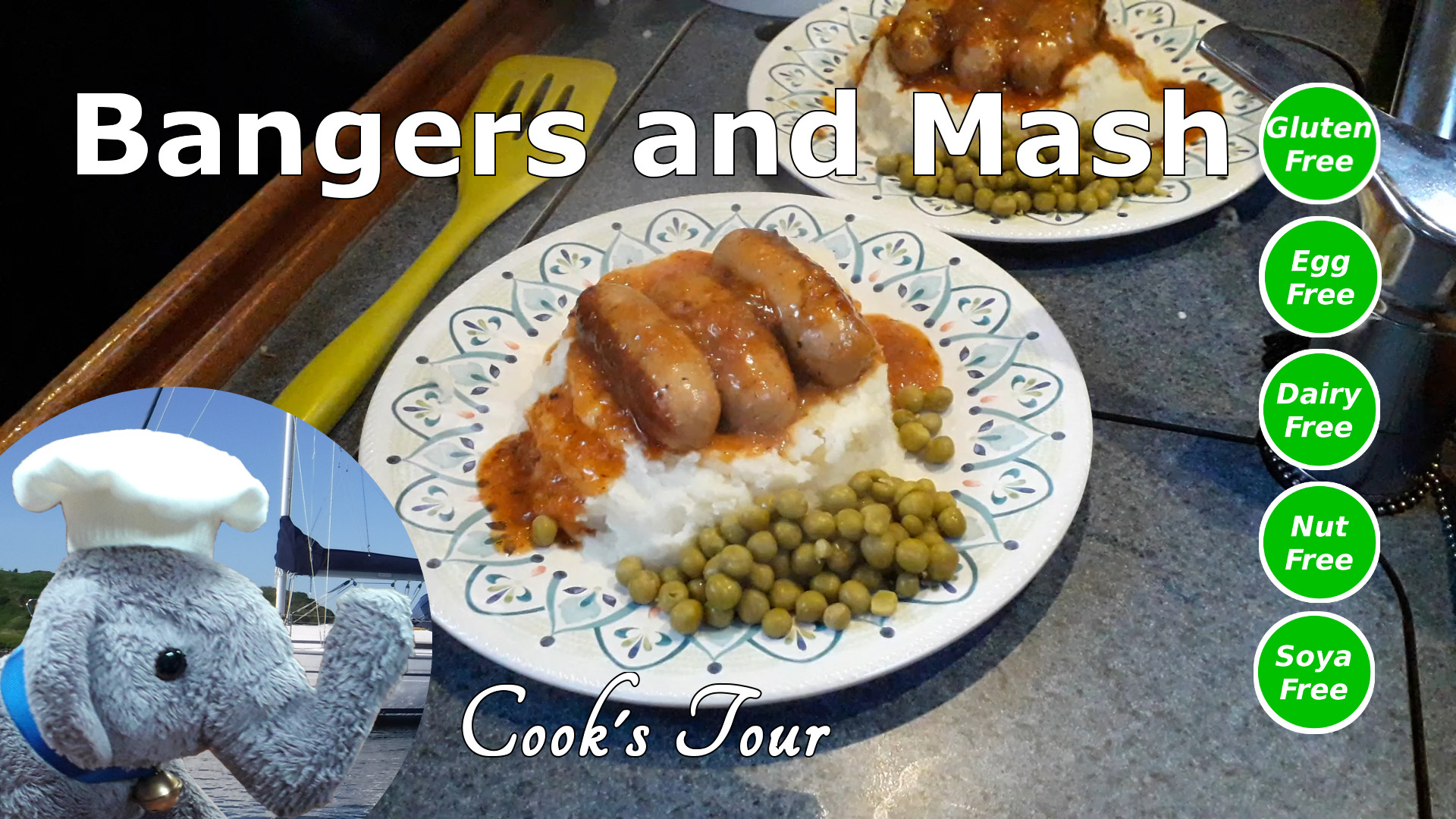 "Watch our ""Bangers and Mash"" video and add connents etc."