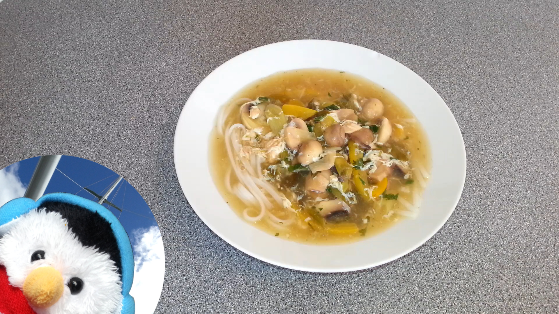 "Watch our ""Egg and Nushroom Soup"" video and add comments etc"