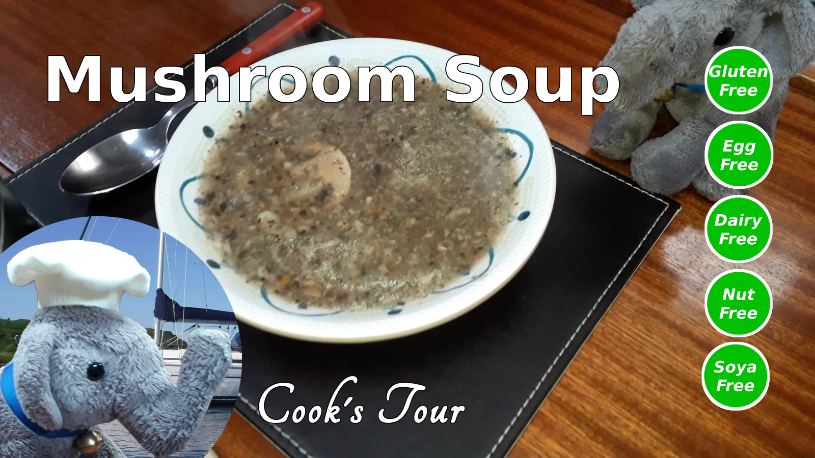 "Watch our ""Mushroom Soup"" video and add comments"