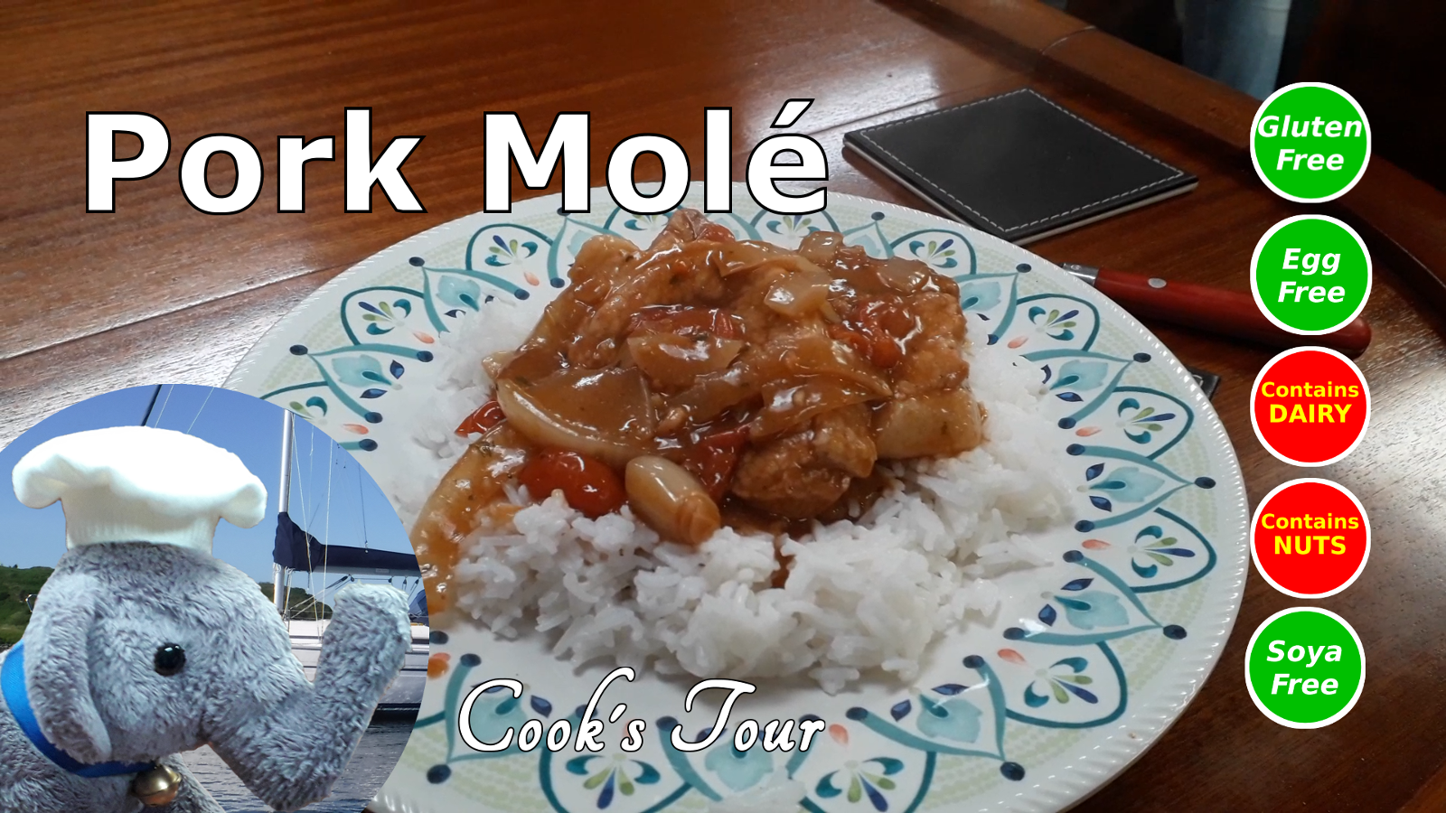 "Watch our ""Pork Mole"" and add comments etc"